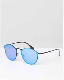 Round Sunglasses With Mirrored Lens 0rb3574n