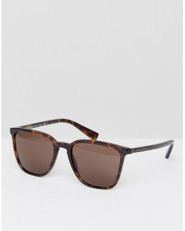 Square Sunglasses In Tortoisehell