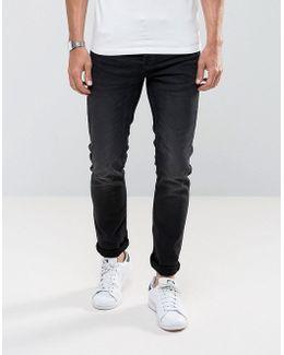 Slim Fit Jeans In Distress Jog Denim
