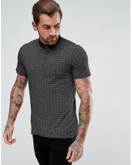 By Hugo Boss Perhaps Slim Fit Paisley Polo Shirt In Black