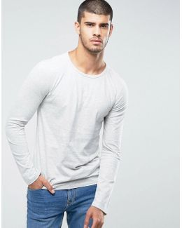 By Hugo Boss Typo Long Sleeve T-shirt In Off White