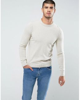 By Hugo Boss Amidro Knitted Jumper In Cream