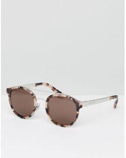 Round Sunglasses In Tortoiseshell