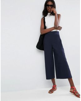 Clean Culotte With Side Split