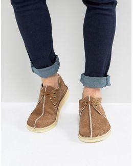 Clarks Original Suede Desert Shoes In Brown
