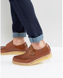 Clarks Original Burcott Monk Leather Shoes
