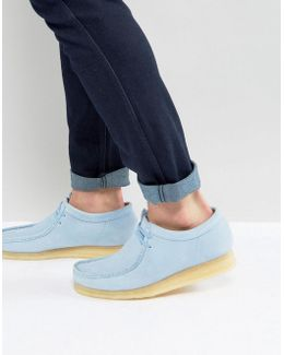Clarks Original Wallabee Suede Shoes In Blue