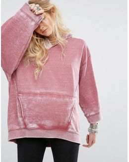 Get It Distressed Oversized Hoodie