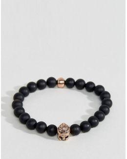 Black & Gold Beaded Bracelet
