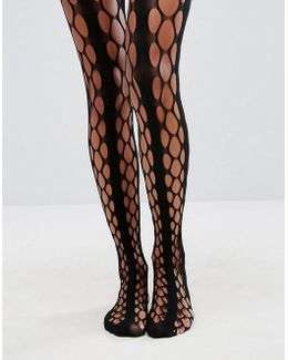Grunge And Stripe Oversized Fishnet Tights