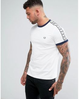 Sports Authentic Slim Fit Taped Sleeve T-shirt White