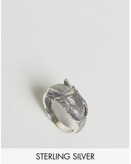 Sterling Silver Ring With Elephant Design