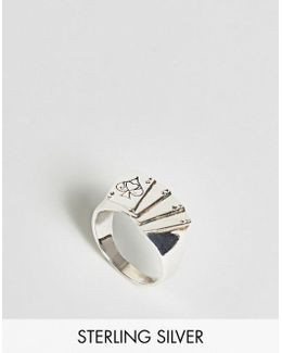 Sterling Silver Ring With Playing Card Design