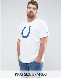Plus Nfl Indianapolis Colts T-shirt In White