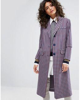Small Check Tailorerd Coat