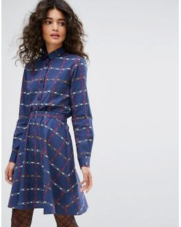 Safety Pin Printed Poplin Dress