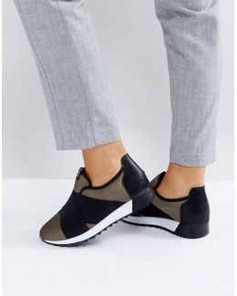 Crossover Elastic Sneakers