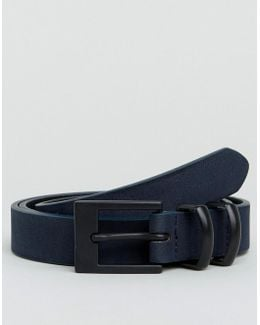 Smart Skinny Belt With Double Keeper In Navy