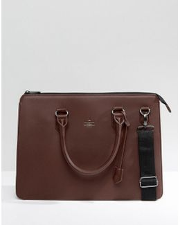Satchel In Burg Faux Leather