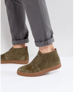 Dempsey Suede Chukka Boots In Khaki