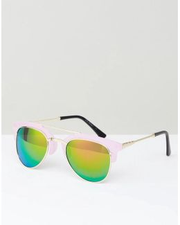 Sunglasses With Pink Mirror Frame