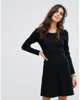 Shoulder Detail Sweater Dress