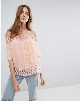 Miss Selfirdge Crochet Bardot Top