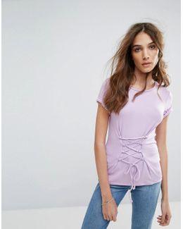 Lace Up Corset T-shirt