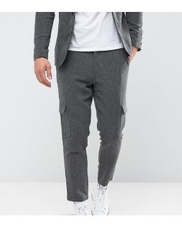 Tapered Cropped Trouser With Cargo Pocket