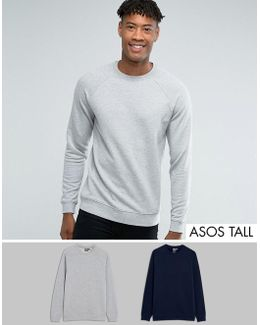 Tall Sweatshirt 2 Pack Navy/gray Marl Save