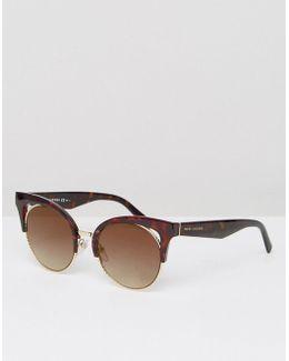 Cat Eye Sunglasses In Tort