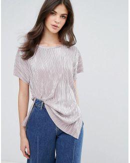 Silver Plisse T-shirt
