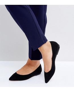 Latch Wide Fit Pointed Ballet Flats