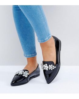 Manilla Wide Fit Embellished Flat Shoes