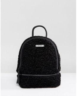 Anancoedo Faux Shearling Mini Backpack