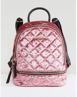 Adroiana Velvet Mini Backpack
