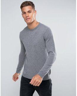 100% Merino Jumper In Grey
