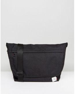 Nylon Messenger Bag In Black
