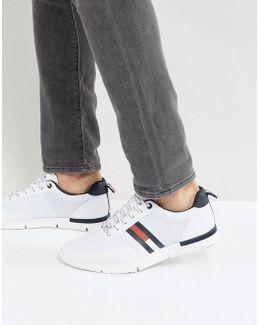 Tobias Logo Sneakers In White