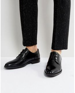Daytona Leather Derby Shoes In Black