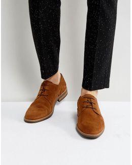 Daytona Suede Derby Shoes In Brown
