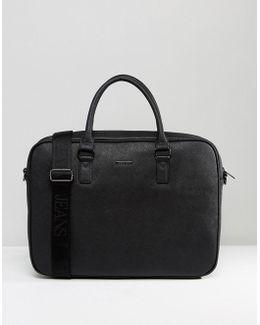 Saffiano Briefcase Bag In Black