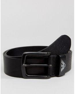 Leather Logo Belt In Black