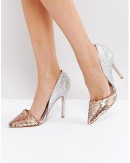 Andrea Sequin Court Shoes