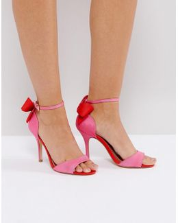 Gianna Hot Pink Heeled Sandals