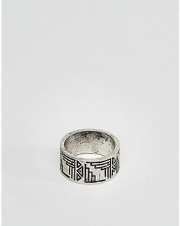 Geo- Design Pinky Ring