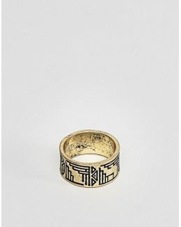 Geo- Design Ring In Gold