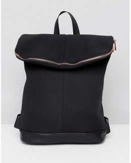 Scuba Backpack With Rose Gold Zip