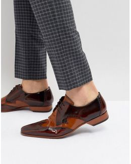 Escobar Brogue Leather Shoes In Brown