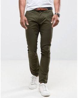 Slim Fit Chinos With Belt